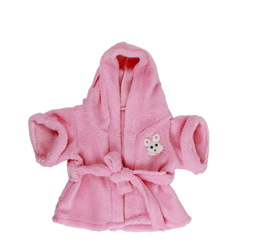 Pink Towelling Dressing Gown - 8""